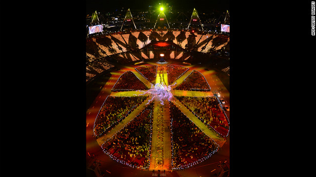 General view taken during the closing ceremony.