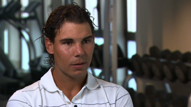 Despite his global appeal, Nadal says he's still trying to lose his shy side in front of the cameras.