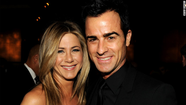 Jennifer Aniston tears up talking engagement