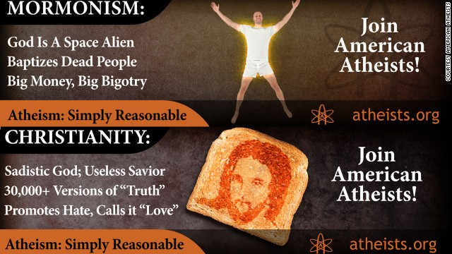 Atheist group removes billboards targeting presidential candidates' religious faith