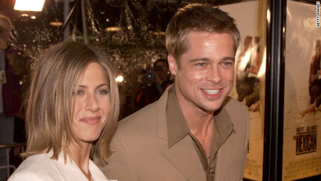 Brad Pitt and Aniston, shown here at the premiere of &quot;The Mexican&quot; in 2001, began dating in 1998. The pair married in 2000 and announced their separation in 2005, the same year Pitt and Angelina Jolie's &quot;Mr. and Mrs. Smith&quot; hit theaters.