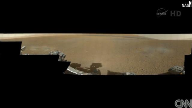 El Curiosity envía la primera panóramica del desierto rocoso de Marte