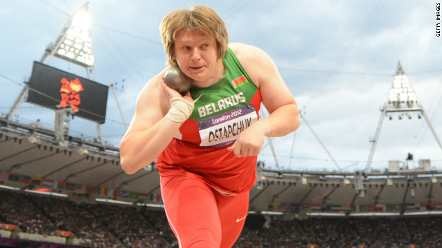 Belarus' Nadzeya Ostapchuk won a bronze medal at the Beijing Games of 2008.
