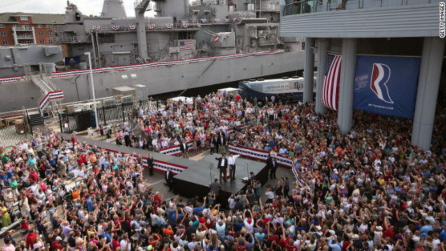 Romney introduced Ryan as his running mate Saturday in front of the USS Wisconsin. The seven-term congressman is chairman of the House Budget Committee and provides a strong contrast to the Obama administration on fiscal policy.