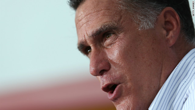 Mitt Romney speaks during a campaign rally at Palacio De Los Jugos Monday in Miami, F