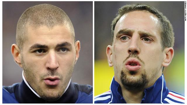 Benzema y Ribery, acusados de prostitución infantil