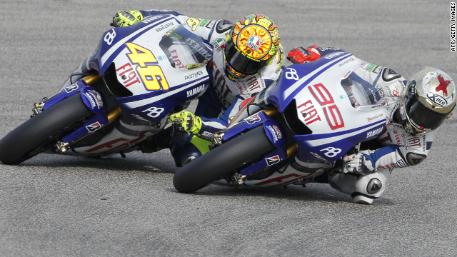 Rossi won the world championship in Lorenzo's first two years with the team, but the Spaniard usurped him after finishing fourth in 2008 and second in 2009.