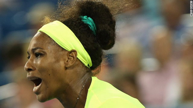 The American had her tresses in control for the start of the second-round match against the Greek qualifier.