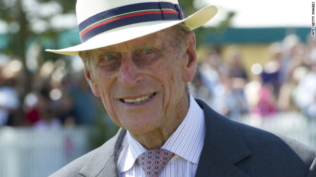 Prince Philip, Duke of Edinburgh meets locals during Queen Eilzabeth II's Diamond Jubilee on July 25, 2012.