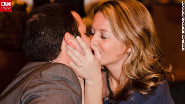 Stephanie Hayden's then-boyfriend, Chad, proposed to her in public at the Waldorf Astoria in New York.