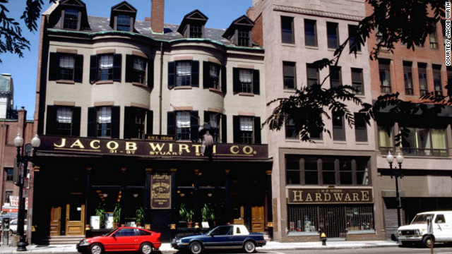 Boston's Jacob Wirth opened in 1868. The restaurant serves solid pub grub and has one of the biggest beer selections in the city.