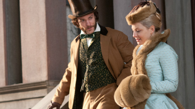 Kyle Schmid and Anastasia Griffith portray aristocratic figures in &quot;Copper&quot; who find themselves getting closer to Five Points.