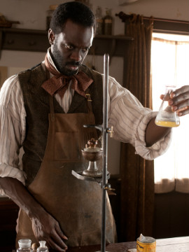 Dr. Freeman (Essandoh) is on a slicing corner of debate science, and aids investigator Corcoran in his investigations.