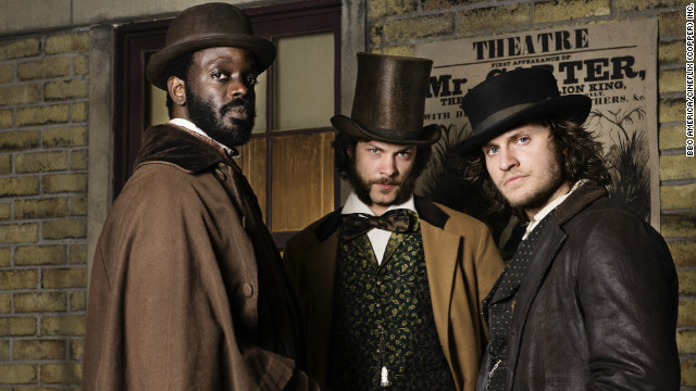 Ato Essandoh, Kyle Schmid and Tom Weston-Jones' charactersof Dr. Matthew Freeman, Robert Morehouse and investigator Kevin Corcoran (from left to right) lead 3 clearly opposite lives in 1864 New York.