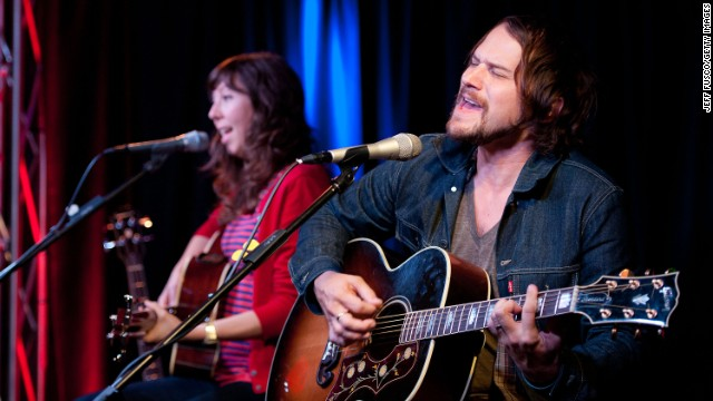 "The Silversun Pickups told Mitt Romney's campaign to not use its song ""Panic Switch."" Nikki Monninger, left, and Brian Aubert of Silversun Pickups pictured performing in Pennsylvania."