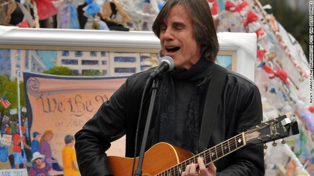 Jackson Browne, pictured playing at the Occupy D.C. encampment at Freedom Plaza in December 2011, settled with McCain out of court after McCain used his 1977 hit &quot;Running on Empty&quot; in a campaign ad without Browne's permission.