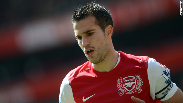 Robin van Persie was the English Premier League's top scorer last season with 30 goals.