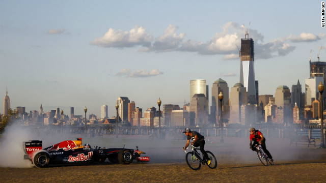 New Jersey will stage Formula One's inaugural Grand Prix of America in 2013, and Red Bull took its RB7 car over to the state of New York one year early to test drive the streets.