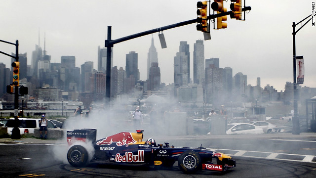 Next year's grand prix will run through the New Jersey township of Weehawken, where Coulthard took the RB7 to get a closer look at what drivers can expect.