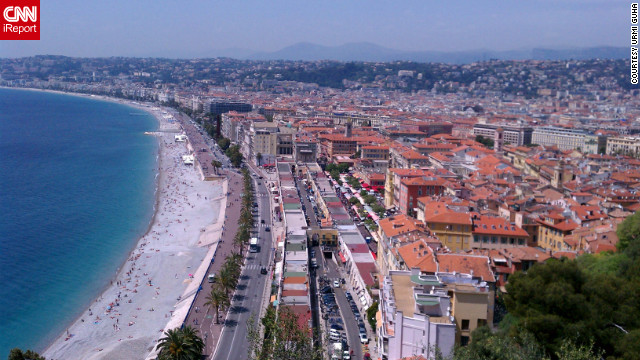 "Urmi Guha spent <a href='http://ireport.cnn.com/docs/DOC-826963'>three days on the French Riviera</a> during a 10-day anniversary trip. ""All three days were very bright and sunny, a nice change after Paris. It also was very relaxing after the hectic sightseeing in Paris,"" Guha writes."