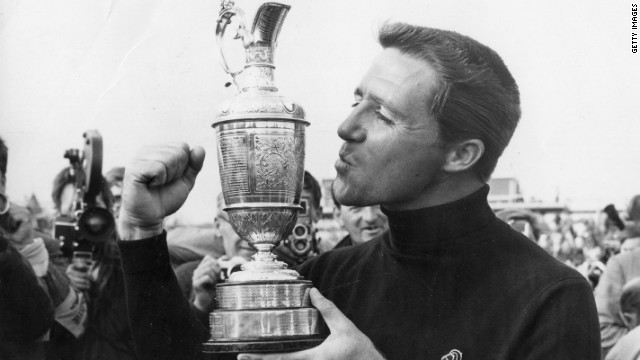 South African Player is the only modern golfer to win The British Open in three different decades. He is pictured winning the tournament for the second time, in 1968, at Carnoustie, Scotland.