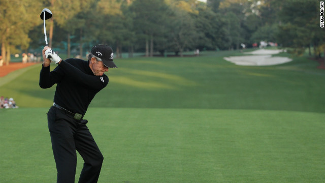 Gary Player, who describes himself as the &quot;World's Most Traveled Athlete&quot; says he has racked up more than 15 million air miles in his career. Now aged 76, he was honorary starter at the Masters, in Augusta, April 2012.