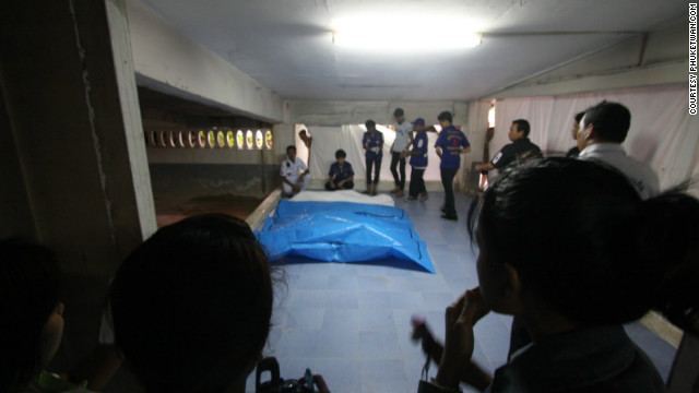 The four victims' bodies were burnt beyond recognition. Police aren't even sure whether they were male or female. Forensic officers were due to arrive Friday to try to determine their identity. <br/><br/>Photo courtesy of <a href='http://phuketwan.com/' target='_blank'>Phuketwan.com</a>