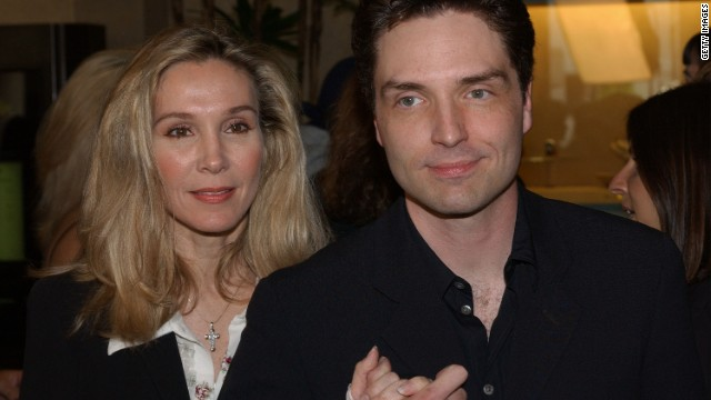 "An accomplished dancer, Rhodes also appeared in ""Flashdance"" and ""Staying Alive"" before retiring from acting to raise her family with husband, singer Richard Marx. The pair are shown here in 2002."