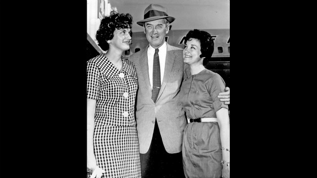 Jimmy Stewart with Mike's daughters Judy, left, and Mimi.