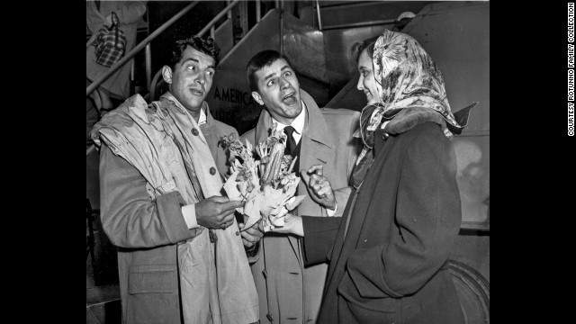 Dean Martin and Jerry Lewis clowning as Martin and Lewis for Rotunno's camera.