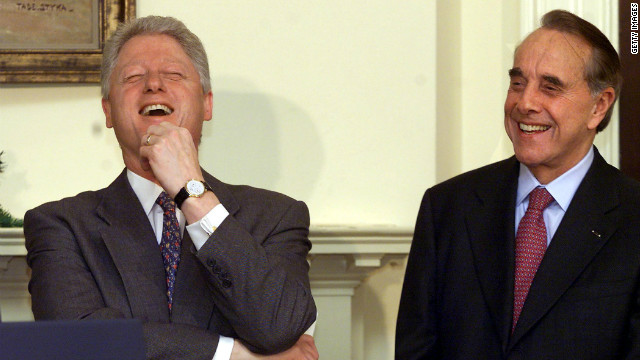Both Bill Clinton and Bob Dole have gotten off some zingers in their careers.
