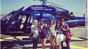 Annabel Schwartz, pictured with friends on vacation, called the Rich Kids of Instagram blog \