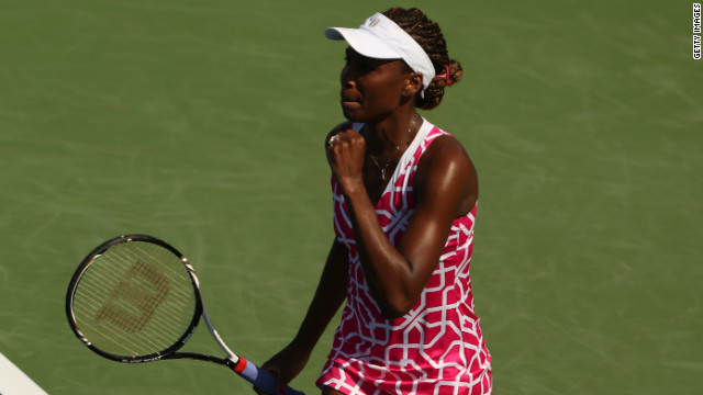 Seven-time grand slam winner Venus Williams is currently 64th in the women's world tennis rankings.