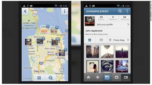 Nueva función de Instagram ordena tus fotografías en un mapa personal