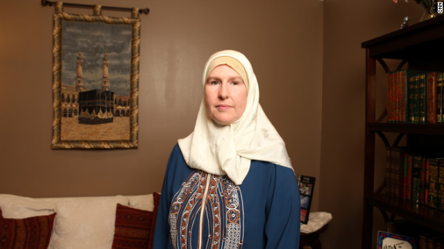 Kareemah Budair awaits guests' arrival for Iftar, the feast ending Ramadan, at her Georgia home.