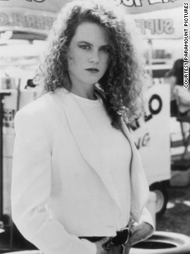 Actress Nicole Kidman in 1990 film &quot;Days of Thunder.&quot; She met Tom Cruise on the set of the movie. They married that year, divorcing in 2001.