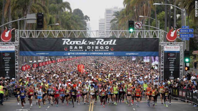  Runners start the 15th annual Rock 'n' Roll Marathon in June in San Diego. 