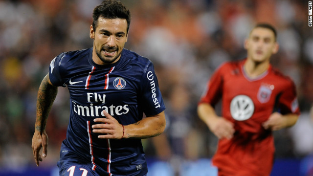 Napoli to Paris Saint-Germain<br/><br/>Argentina international forward Ezequiel Lavezzi arrives at PSG with a $36.25 million price tag and a big reputation following his five years in Italy. He will link up with another former Serie A star in Zlatan Ibrahimovic.