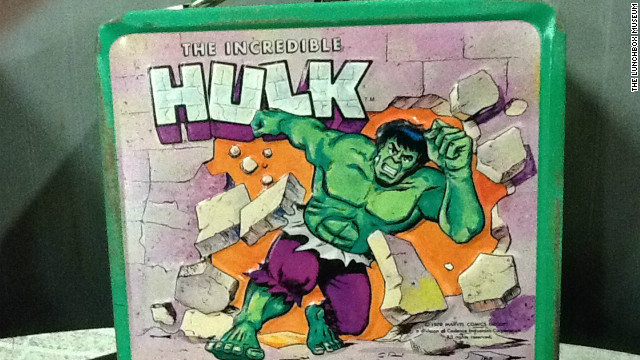 "Lunchboxes offer a time capsule of American pop culture, featuring cartoon characters, bands, movies and TV shows. Aladdin Industries came out with this ""Incredible Hulk"" lunchbox in 1978 when the TV series with Lou Ferrigno was popular."