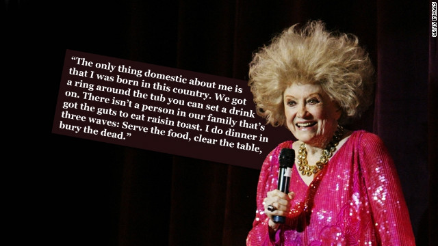 Queen of the one-liners: Late comic Phyllis Diller\'s funniest gags