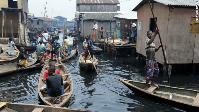 Makoko is one of the many chaotic human settlements that have sprouted in Lagos in recent years.