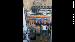 Bradley Manning supporters refused to leave an Obama campaign office in Oakland, California, on Thursday.