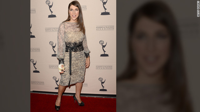 Mayim Bialik hits the red carpet post-accident