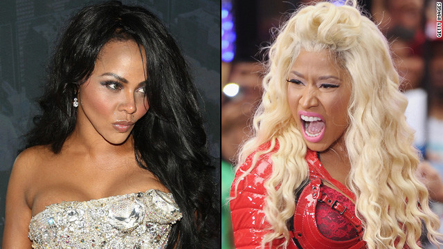 It appears that rapper Lil' Kim has not taken too kindly to what she views as newercomer Nicki Minaj's lack of respect and similar style with the colored wigs and sexually explicit lyrics. The pair have traded insults all over the media.