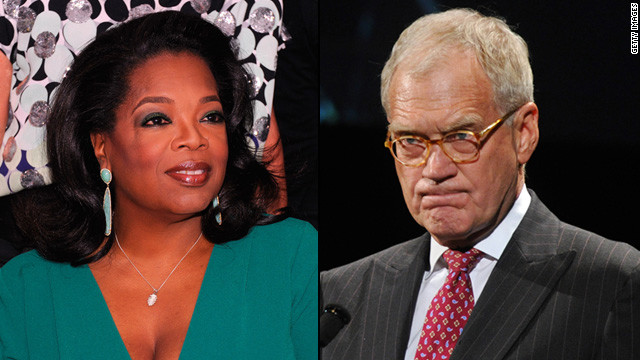 Oprah Winfrey was reportedly annoyed by David Letterman's constant joking references to her name when he hosted the Academy Awards in 1995. The late-night talk-show host told &quot;The Daily Show's&quot; Jon Stewart he had also once played a practical joke on Wnfrey, convincing a waiter that she had agreed to pick up his tab. They have since made peace.
