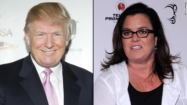"After her<a href='http://marquee.blogs.cnn.com/2012/08/20/rosie-odonnell-happy-to-be-alive-after-heart-attack' target='_blank'> heart attack</a> in 2012, Rosie O'Donnell <a href='http://marquee.blogs.cnn.com/2012/08/21/rosie-odonnell-wary-of-trumps-kind-tweet/' target='_blank'>received support</a> from an unlikely source: Donald Trump. The two engaged in a pretty high-profile feud in the past with her <a href='http://www.people.com/people/article/0,,20005103,00.html' target='_blank'>calling him a ""snake-oil salesman""</a> and Trump retorting that she was a ""loser."""