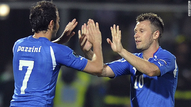 AC Milan to Internazionale&lt;br/&gt;&lt;br/&gt;Antonio Cassano has left AC Milan to join city rivals Inter, while fellow Italy striker Giampaolo Pazzini went in the other direction. Milan had to pay a reported $8.7 million extra for Pazzini, who at 28 is two years younger than his former Sampdoria teammate. Cassano, meanwhile, recovered from heart surgery to help Italy reach the final of Euro 2012.