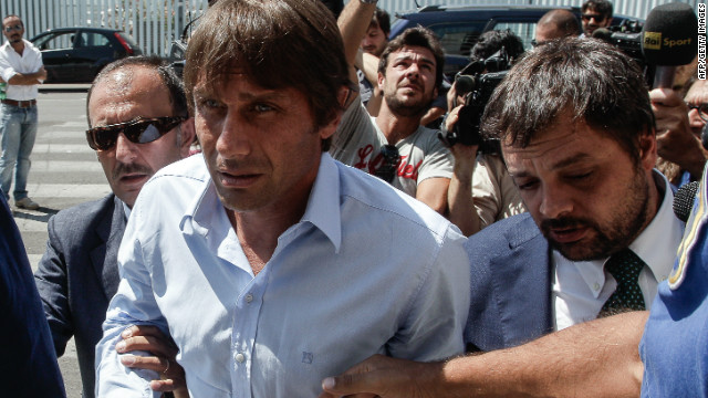 Antonio Conte arrives for his appeal hearing before the disciplinary commission of the Italian Football League at the Federal Court of Justice in Rome. 