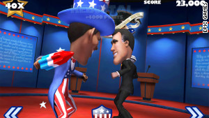 The fight starts at a national debate and then spills on to the White House lawn before concluding in the Oval Office.