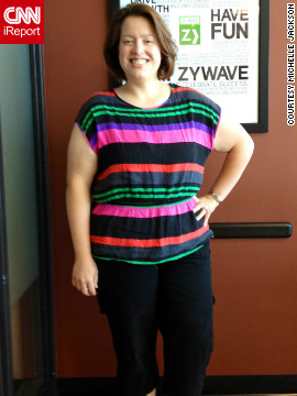"The best thing about her outfit in this photo? It was ""purchased at regular' stores with misses sizing,"" Jackson says. ""No plus sizes!"""